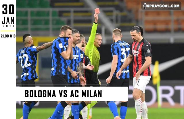 Prediksi Skor Bologna Vs AC Milan Sabtu 30 Januari 2021