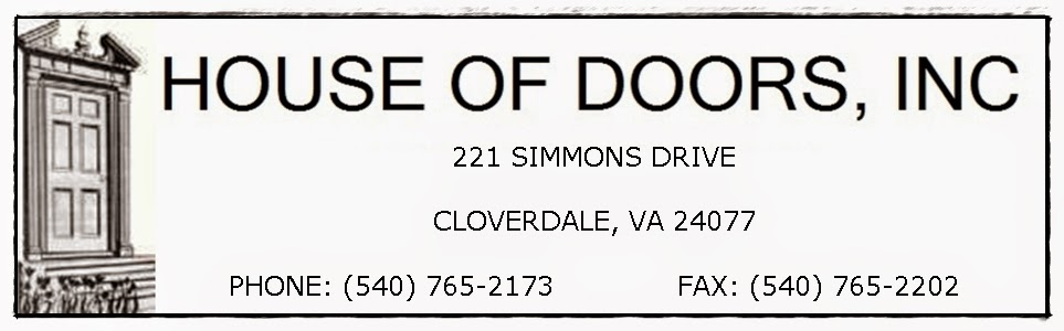 House of Doors - Roanoke, VA Sales, Service and Installation of Commercial Doors, Frames and Hardware