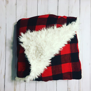 bizy belle blanket in buffalo plaid