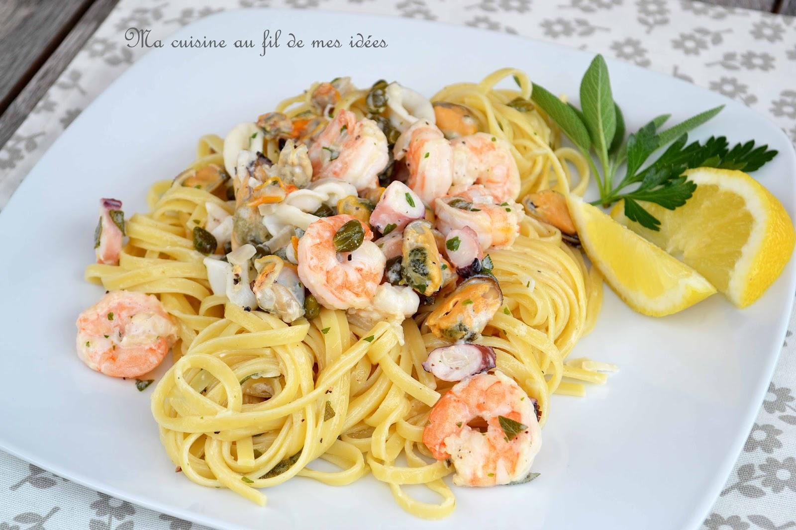 Ma Cuisine Au Fil De Mes Idees Pates Linguine Aux Fruits De Mer