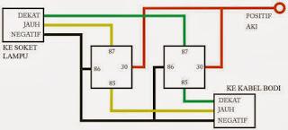 Trik Membuat Lampu Motor Lebih Terang Dengan Menggunakan Relay