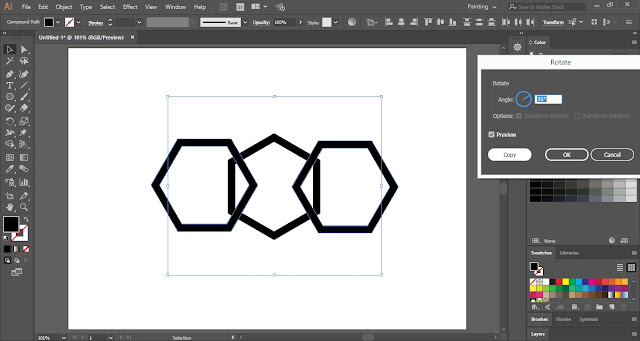 Interlaced Geometric Pattern in Adobe Illustrator