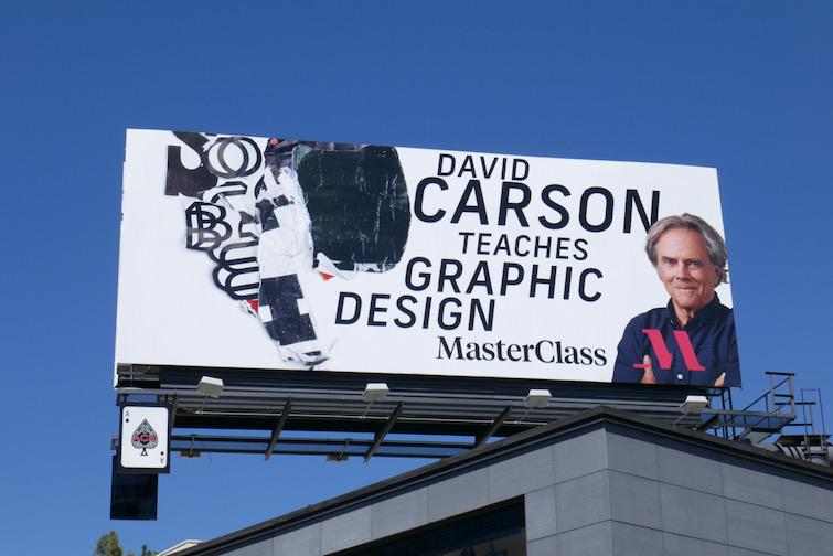 David Carson teaches Graphic Design MasterClass billboard