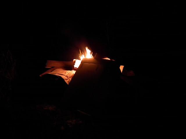 tuli, liekki, nuotio, syksy