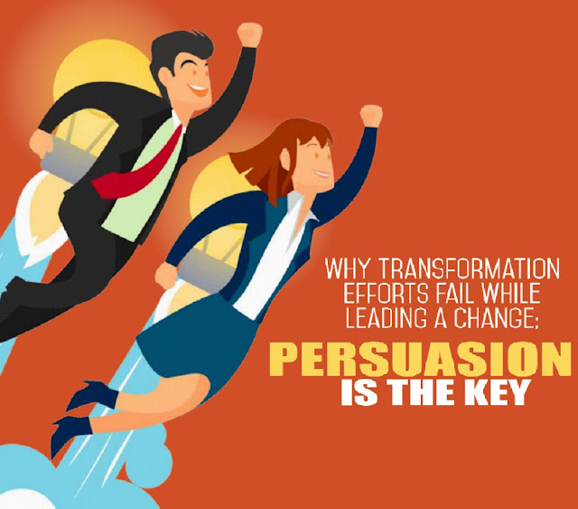 leading transformation and change Managing an organizational transformation, executives tell us, is like trying to change the wheels on a bike while you're riding it you have to take your organization apart and put it back together in a new way, but you have to keep the business running at the same time it's a lot to ask, and [.