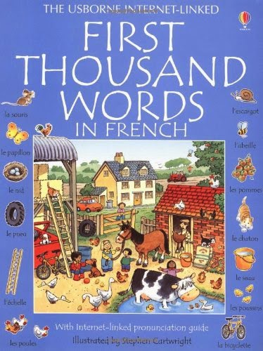 First Thousand Words in French, part of children's book review list about France