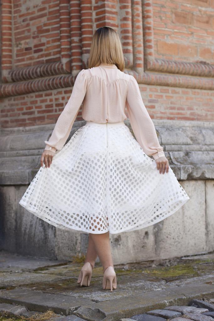back details white skirt