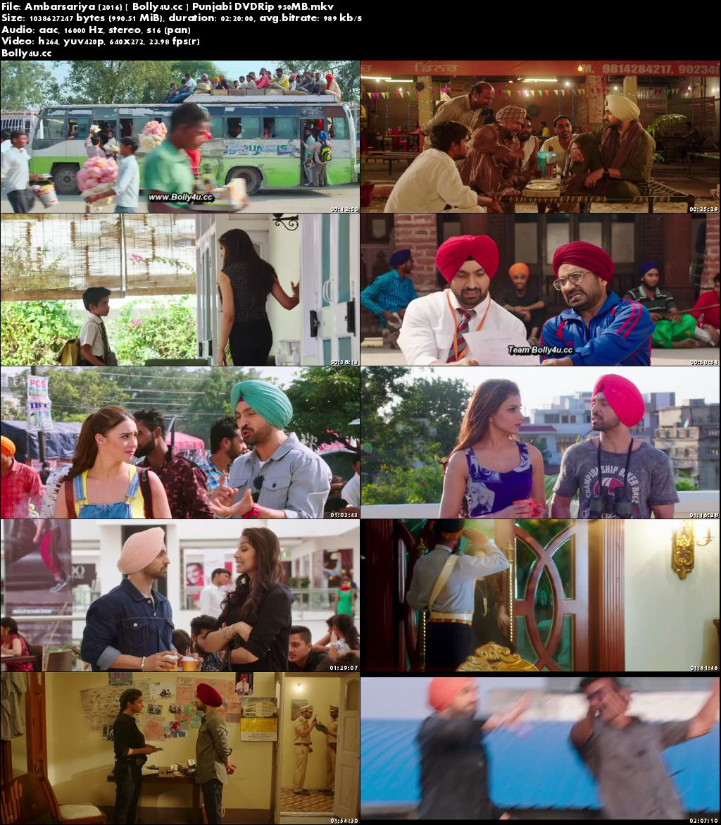 Ambarsariya 2016 DVDRip 950MB Punjabi x264 Download
