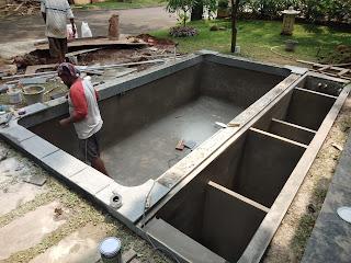 ahli buat kolam koi dan sistem filternya: contoh kolam