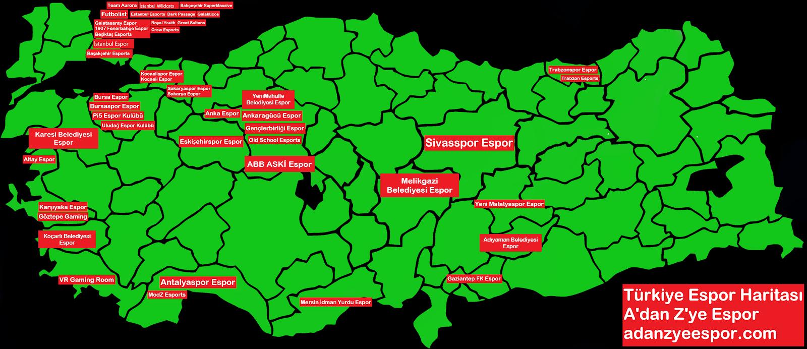 Türkiye Espor Haritası3