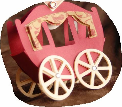 Princess Carriage Shaped Free Printable Box.