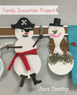 Family Snowman Project, www.JustTeachy.com