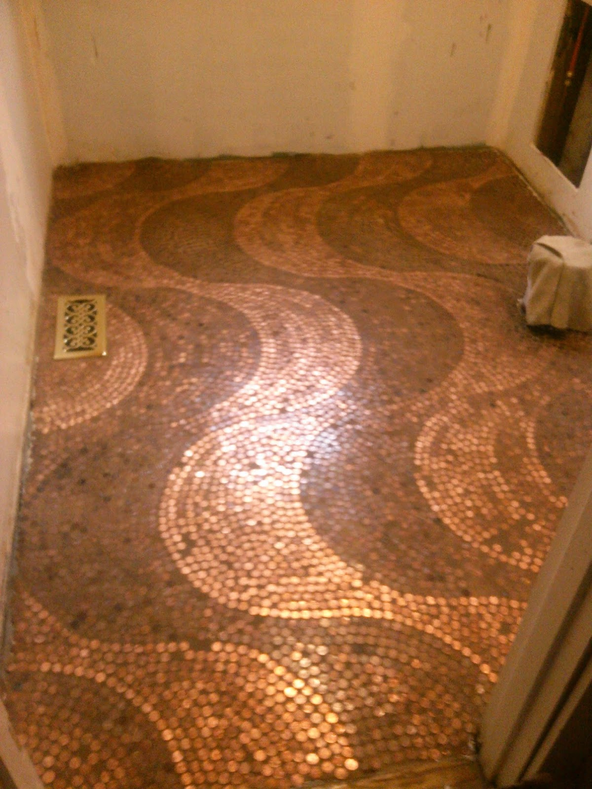 Our Irish Manor: Our Penny Floor