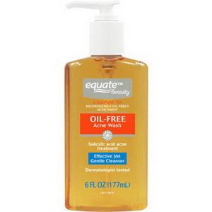 Sữa rửa mặt ngừa mụn trứng cá dạng gel  Equate Beauty Oil-Free Acne Wash của Mỹ