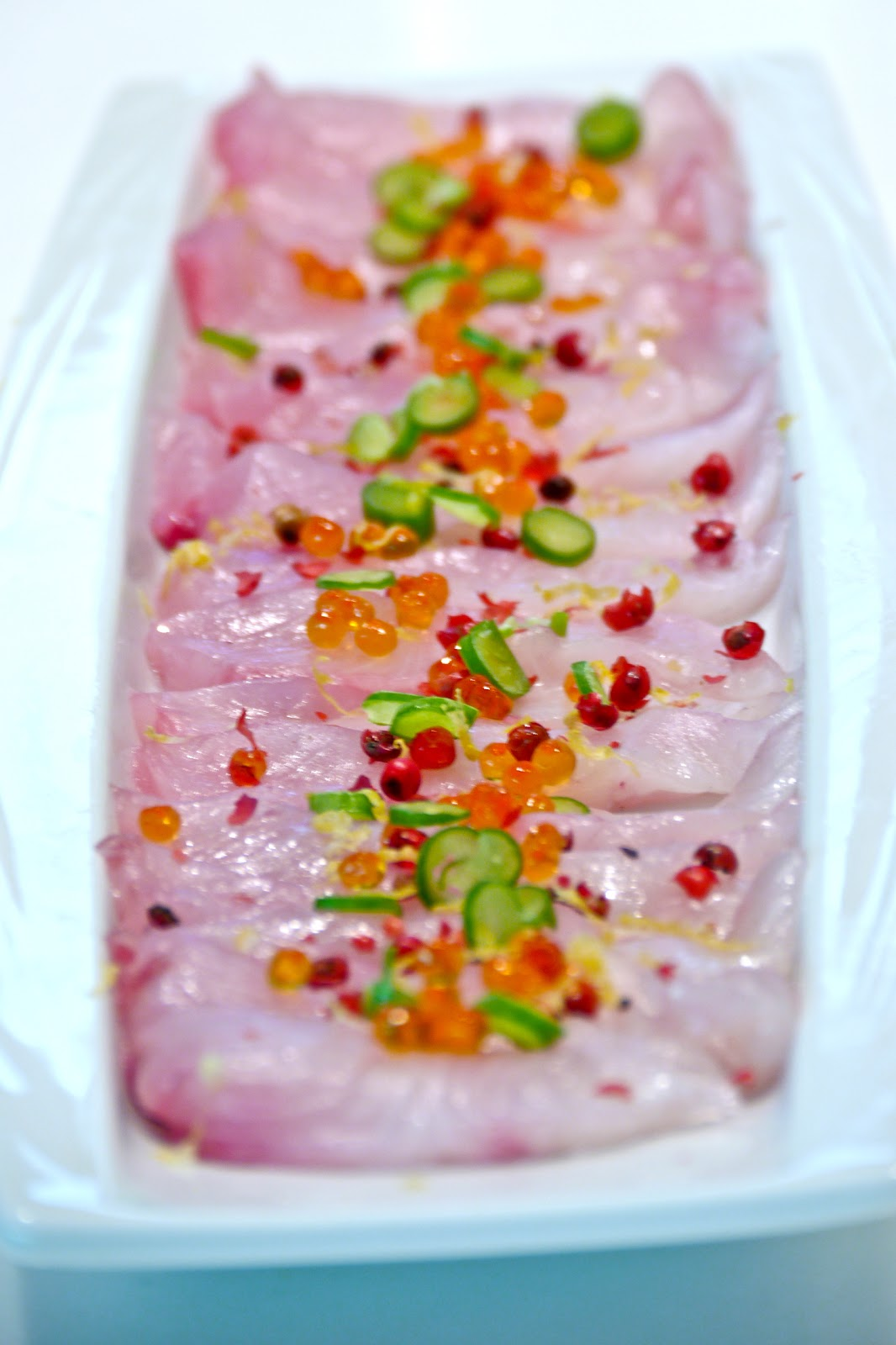 Cook on your feet: Kona Kampachi Sashimi