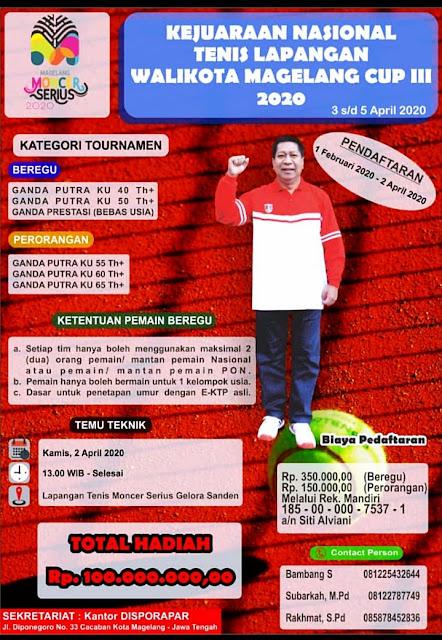 Kejuaraan Nasional Tenis Walikota Magelang Cup III 2020