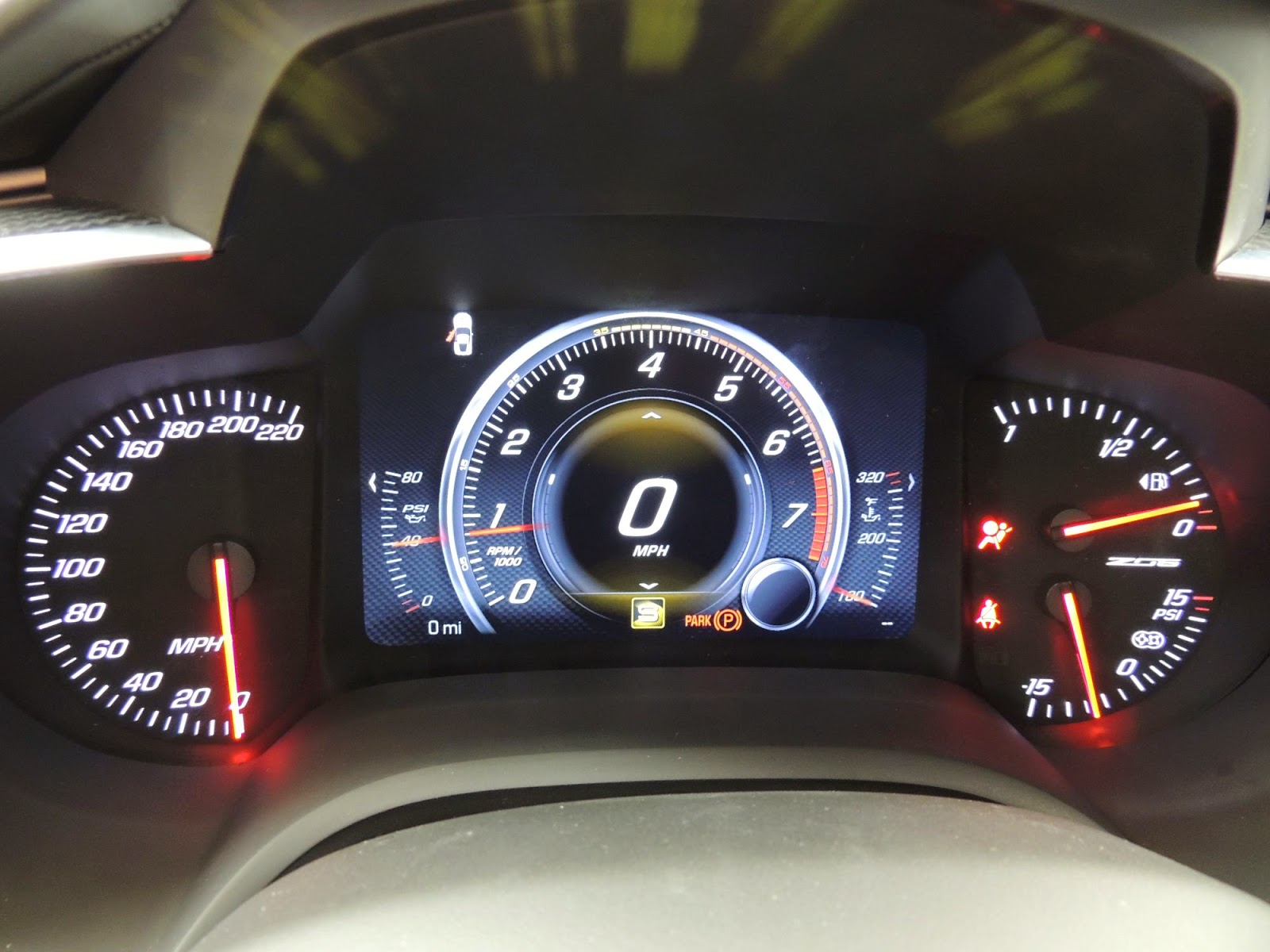 Corvette Stingray Top Speed >> 2015 Corvette C7 Z06 220 Mph Speedometer A Case Of Wishful Thinking