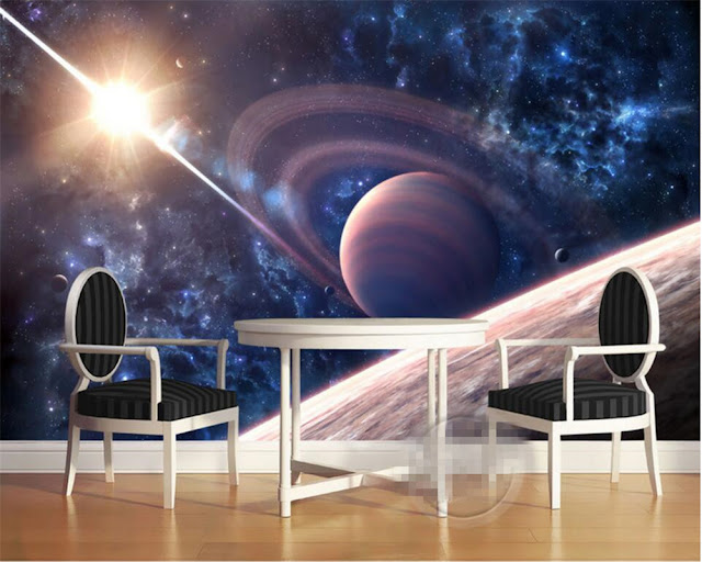 Space Wall Mural Planets Photo Wallpaper