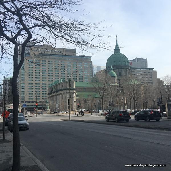 exterior of Fairmont Queen Elizabeth Hotel in Montreal, Canada