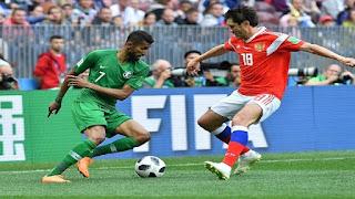 تشكيل مباراة السعودية وأوروجواي الاربعاء 20-06-2018 والقنوات الناقلة ومشاهدة البث المباشر