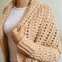 Suéter a Base de Rectángulo a Crochet