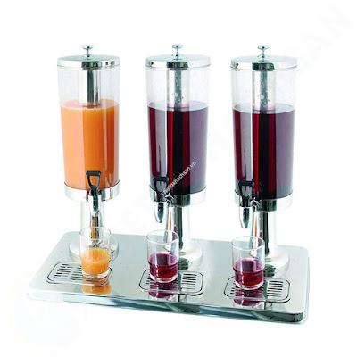 Bình nước hoa quả buffet 9 lít 3 ngăn inox 18/10 121316