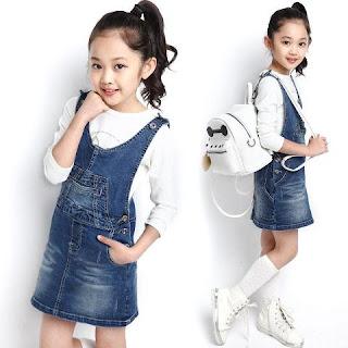 Model Baju Dress Jeans Anak Perempaun Terbaru
