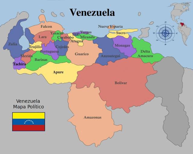 Mapa Político Actual de Venezuela