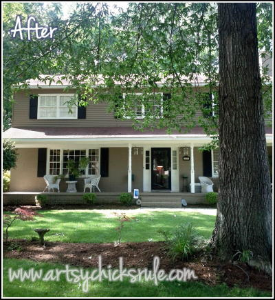 Artsy Chicks Rule  House / Current/ Valspar Exterior Paint (Lowe's)