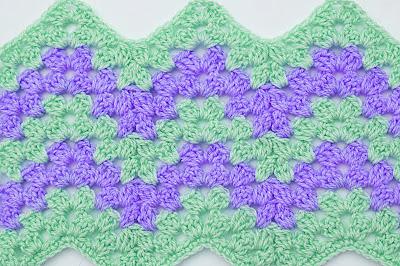 5 - Crochet Imagen Puntada zig zag a crochet por Majovel Crochet