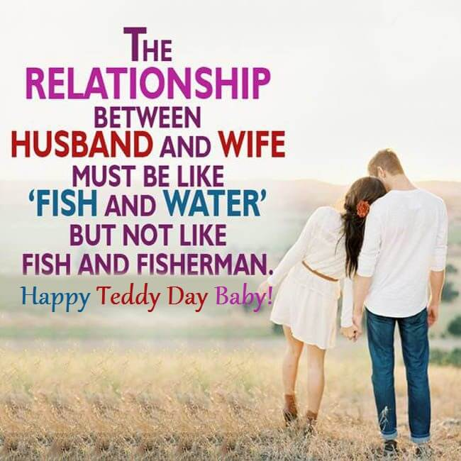 Teddy Day Romantic Quotes for Wife and Husband