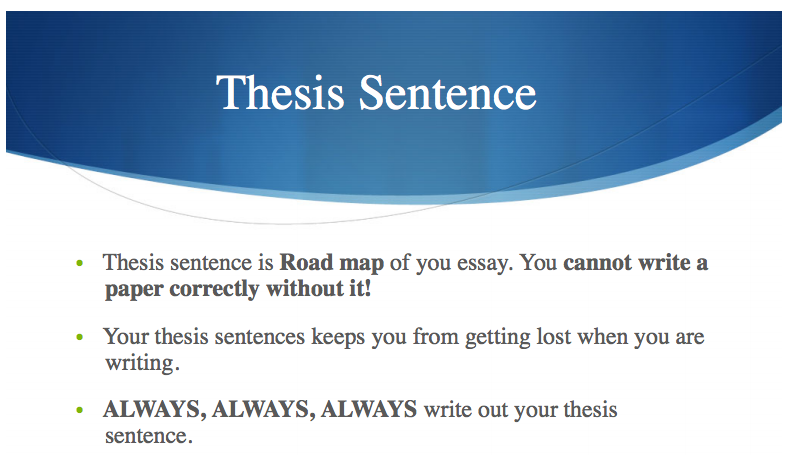 speech thesis statement generator Creating a thesis statement an essay's thesis statement serves two purposes: first, it unifies the facts and information of an argument by describing the overall.