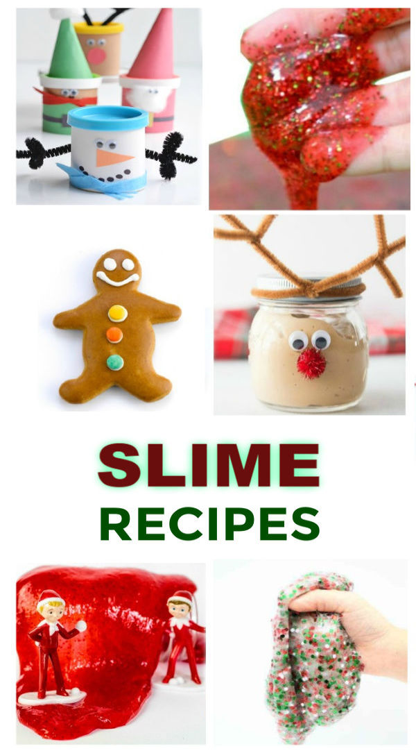 30+ CHRISTMAS SLIME RECIPES FOR KIDS: From Santa SLIME to GRINCH GOO it's all here! #slime #holidayslime #holidayslimeforkids #christmasslime #christmascraftsforkids #growingajeweledrose #activitiesforkids