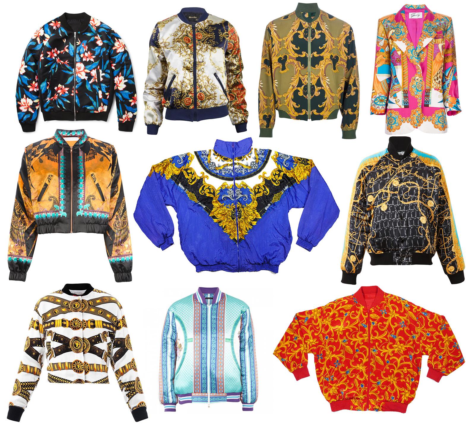 3383e390fc1 Gianni Versace Vintage Silk Shirt Baroque Print
