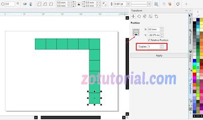 Membuat Duplikat Objek Berjejer dengan CorelDraw 2020