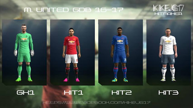 PES 2013 Manchester United Kit Season 2016/2017