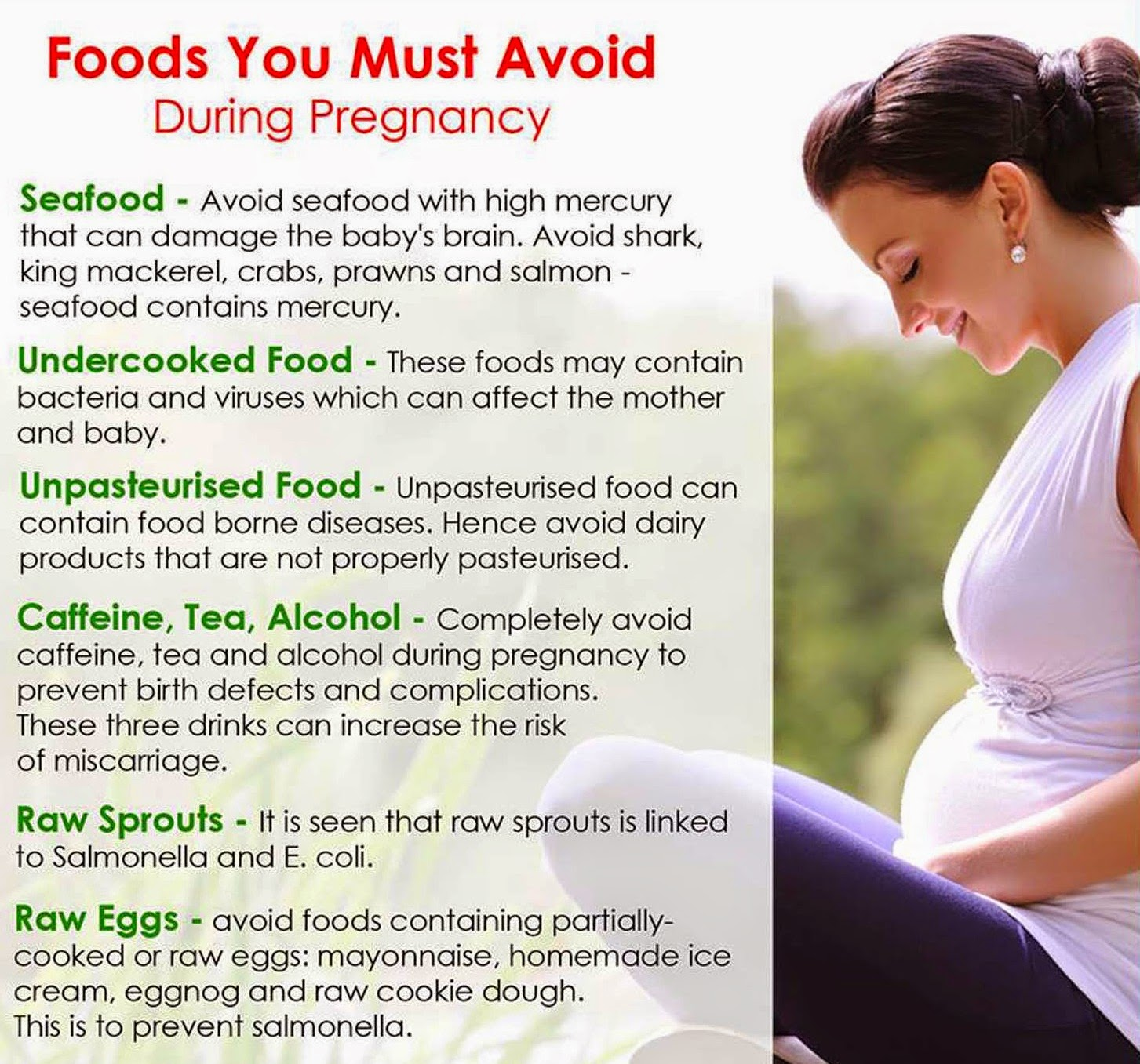 Foods To Avoid In Early Pregnancy