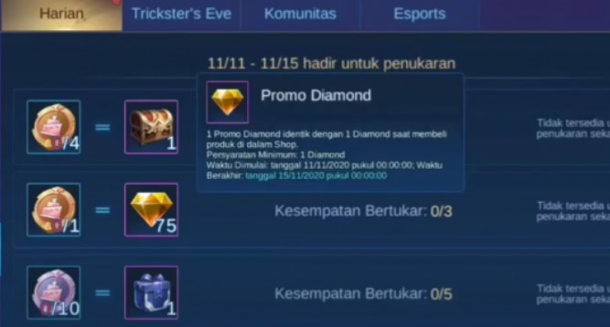 Kapan Event Diamond Kuning ML 2021