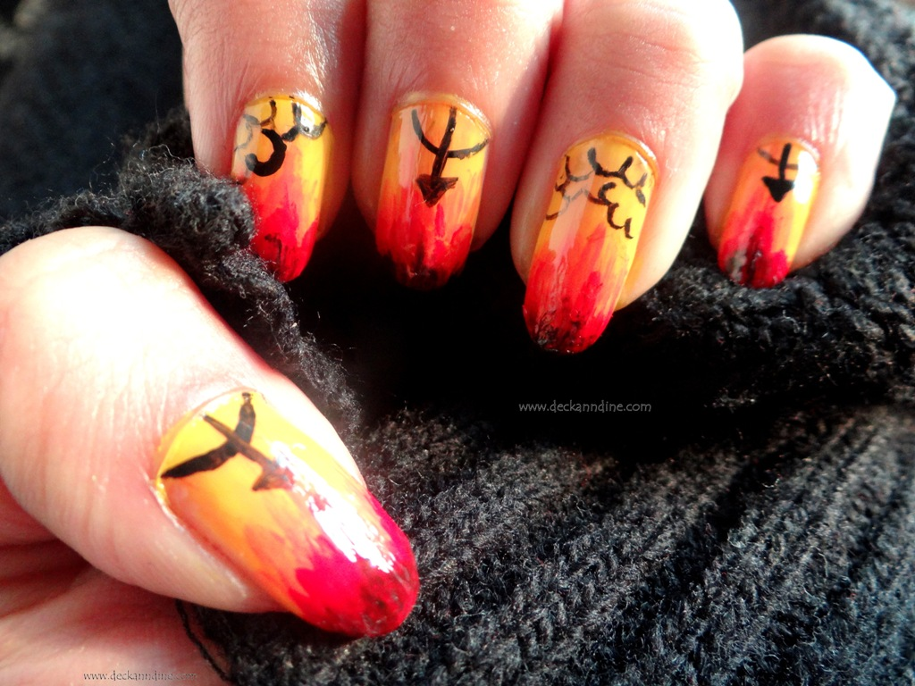 Nail Art Help My Nails Are On Fire Deck And Dine