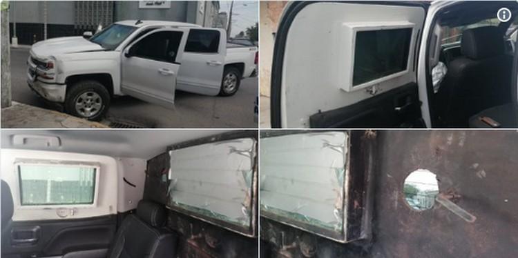 """PGJ le incautan troca """"Monstruo"""" al Cártel del Noreste cubierta con blindaje artesanal, preparada para el topon en Tamaulipas"""