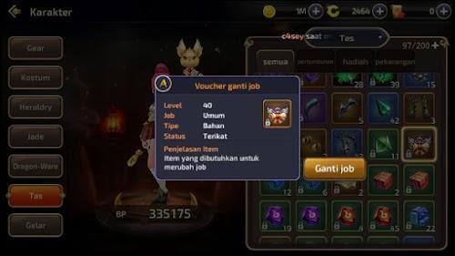 Hal Yang Perlu Diperhatikan Sebelum Merubah Job Mu Dragon Nest Mobile