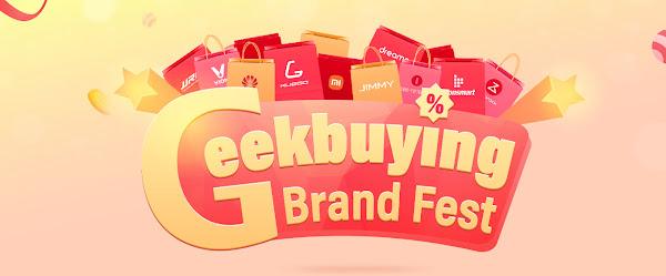 Geekbuying Brand Fest - Cupões exclusivos!