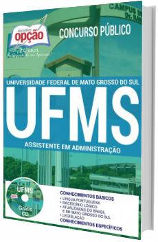 Apostila concurso UFMS 2017 Assistente em Administração