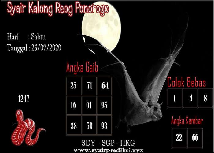 Kode syair Hongkong Sabtu 25 Juli 2020 198