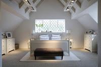 White attic bedroom idea