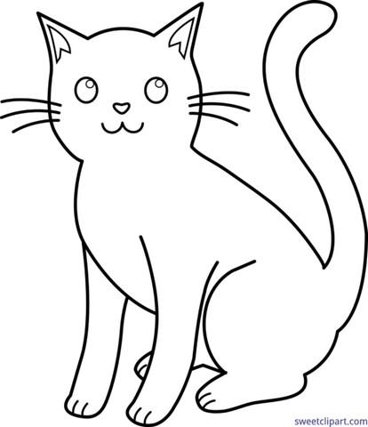 Gambar Kucing Yang Mudah Digambar godean.web.id