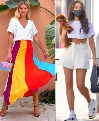 Guia de Moda peças coringas para se ter no guarda roupas, t-shirt branca, Julia Tibério, Olivia Culpo