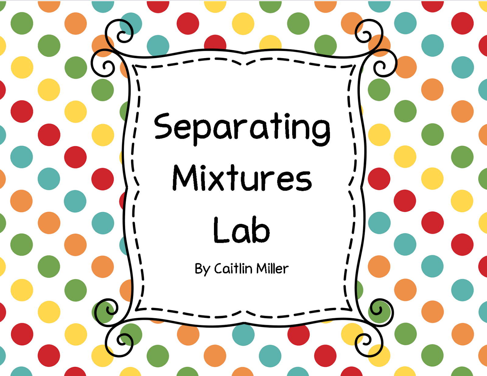 Miller S Science Space Separating Mixtures