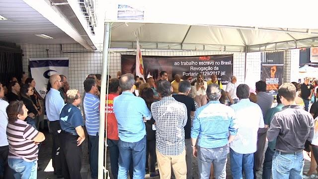 Auditores protestam contra portaria que inviabiliza fiscalização do trabalho escravo