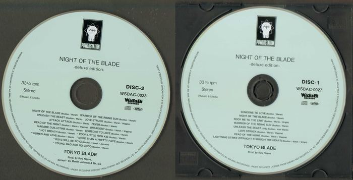 TOKYO BLADE - Night Of The Blade [Deluxe Edition Japan mini-LP remastered] (2016) discs